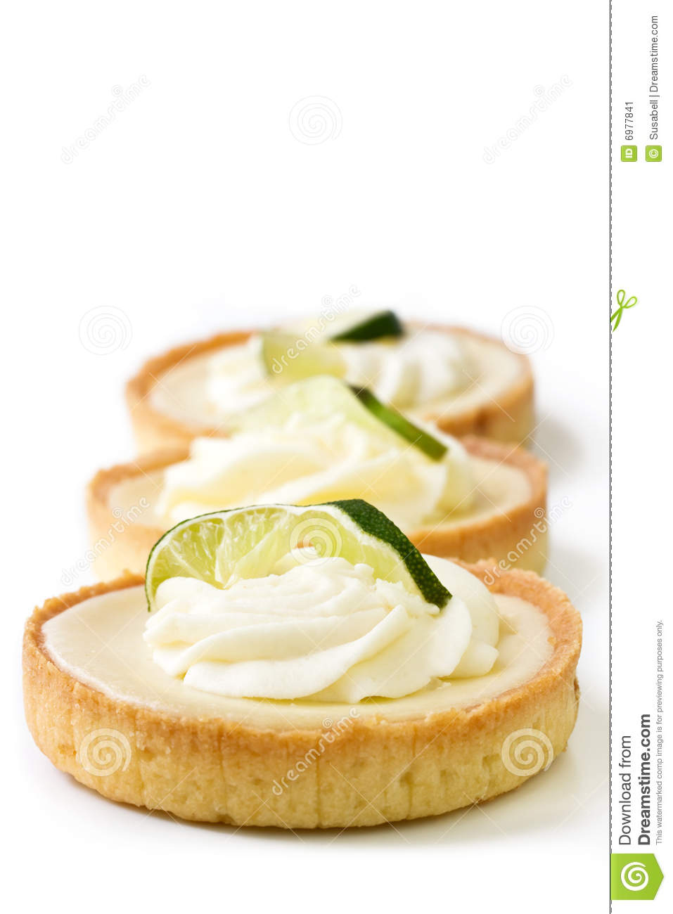 Key Lime Tart Stock Image - Image: 6977841