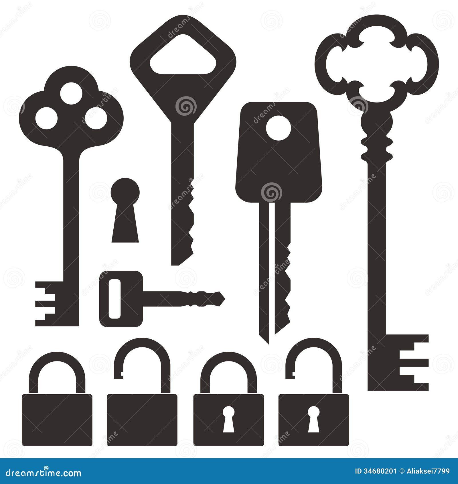 Vector Key Illustration: Key. Lock Stock Vector. Illustration Of Element, Skeleton