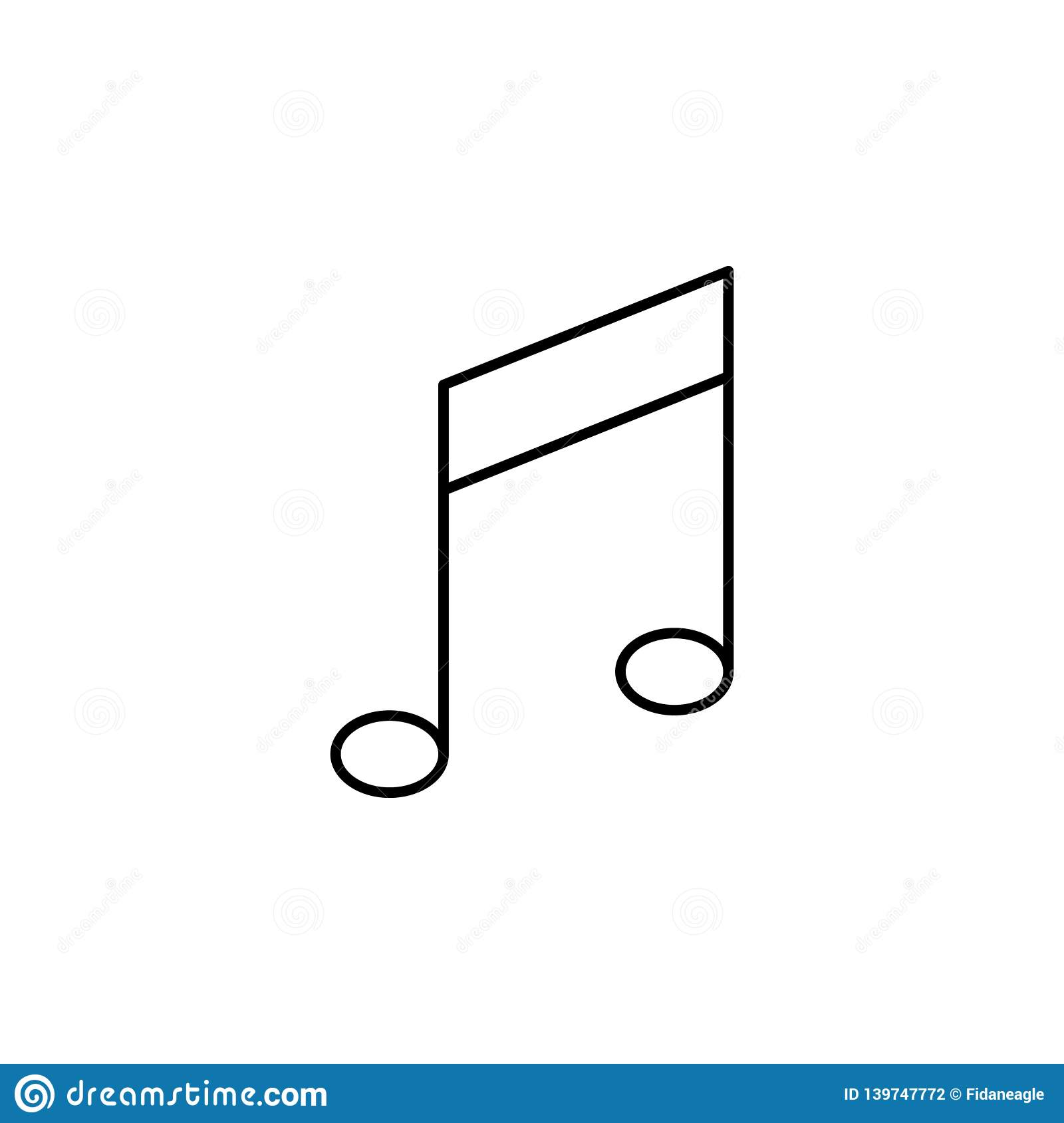 Key Music Tone Note Outline Icon  Signs And Symbols Can Be
