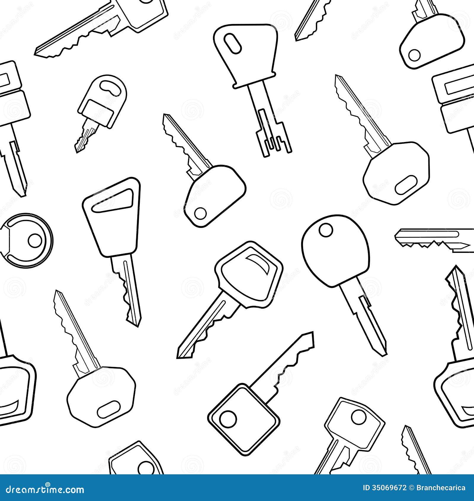 Vector Key Illustration: Key Pattern Stock Vector. Image Of Classic, Illustration