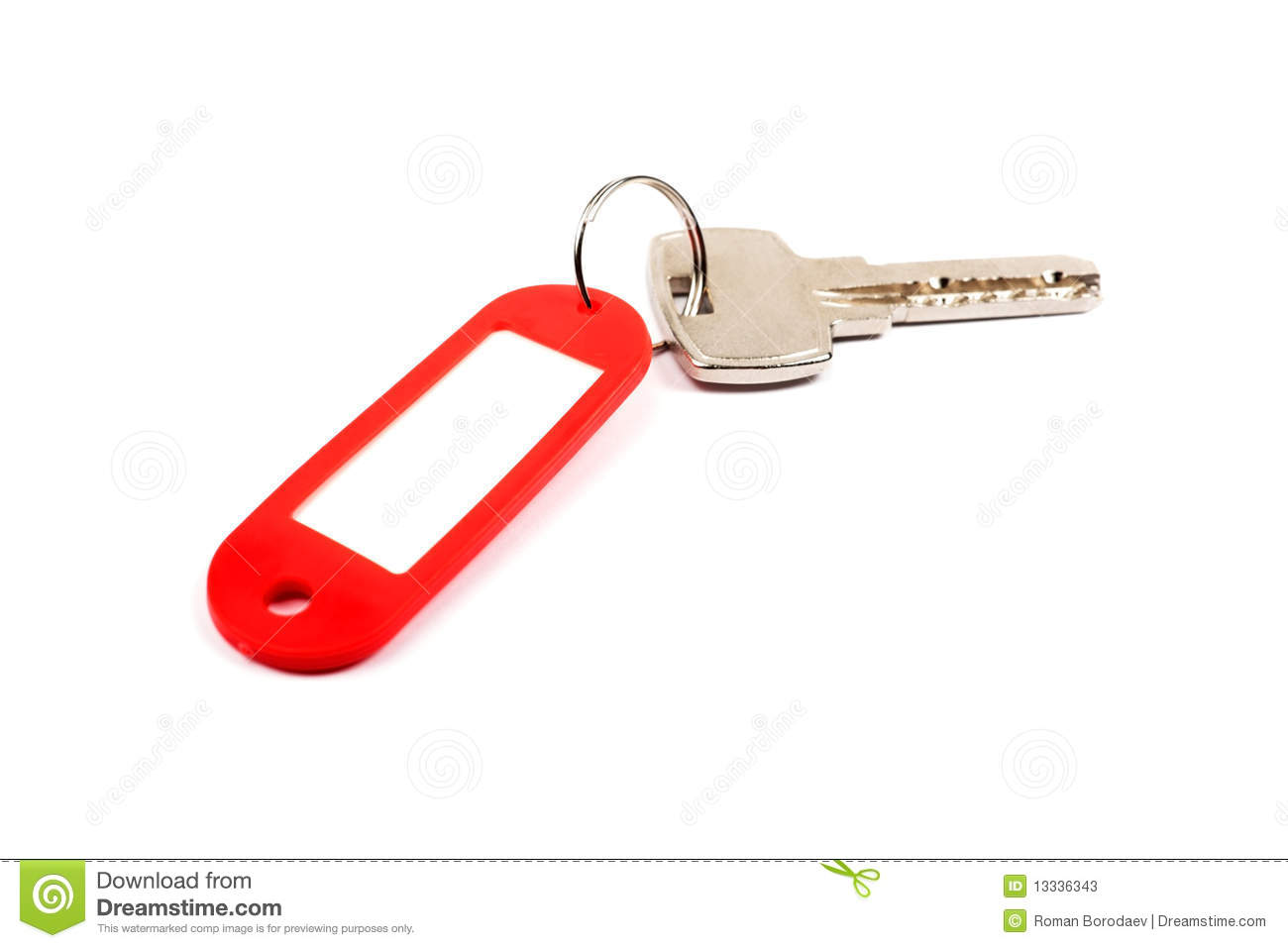 Key and red trinket.