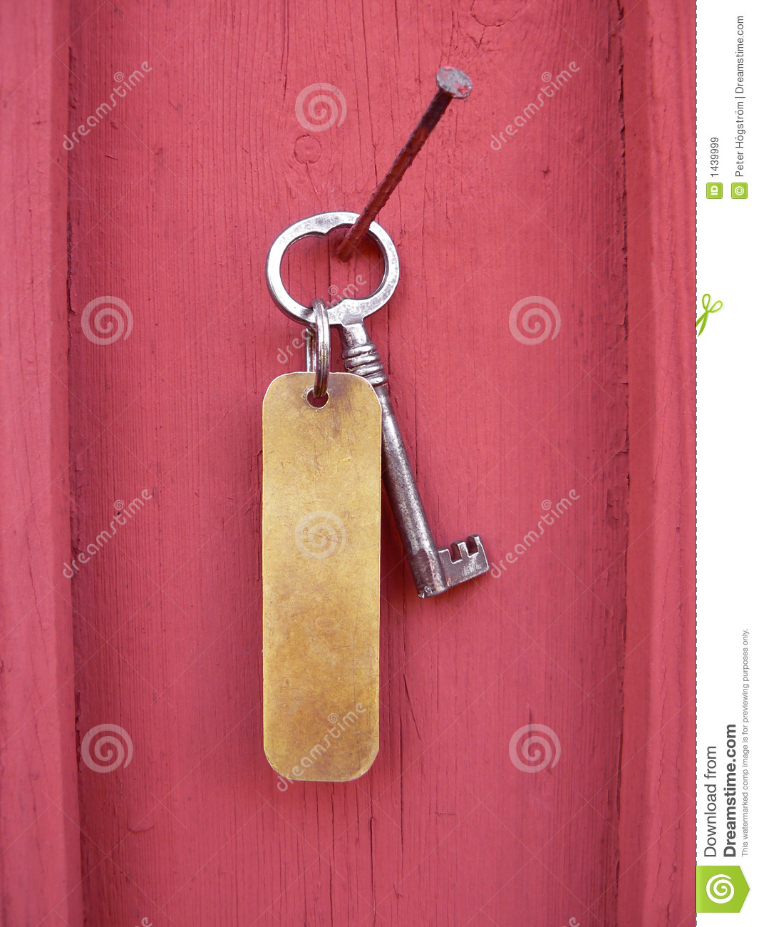 Key with tag