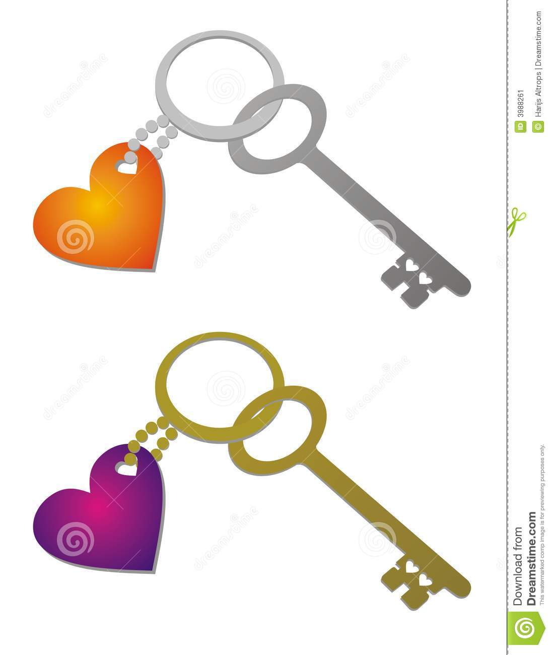 Key To The Heart Stock Vector Illustration Of Jewel Ring 3988261