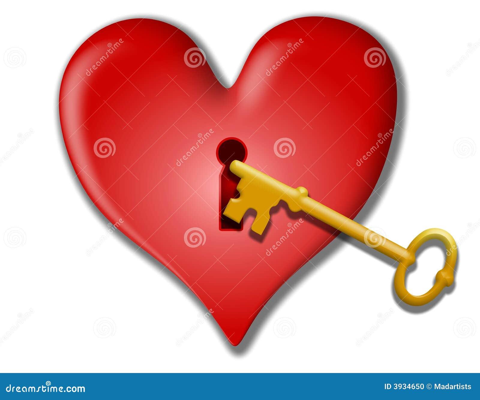 Key To My Heart Valentine Clip Art