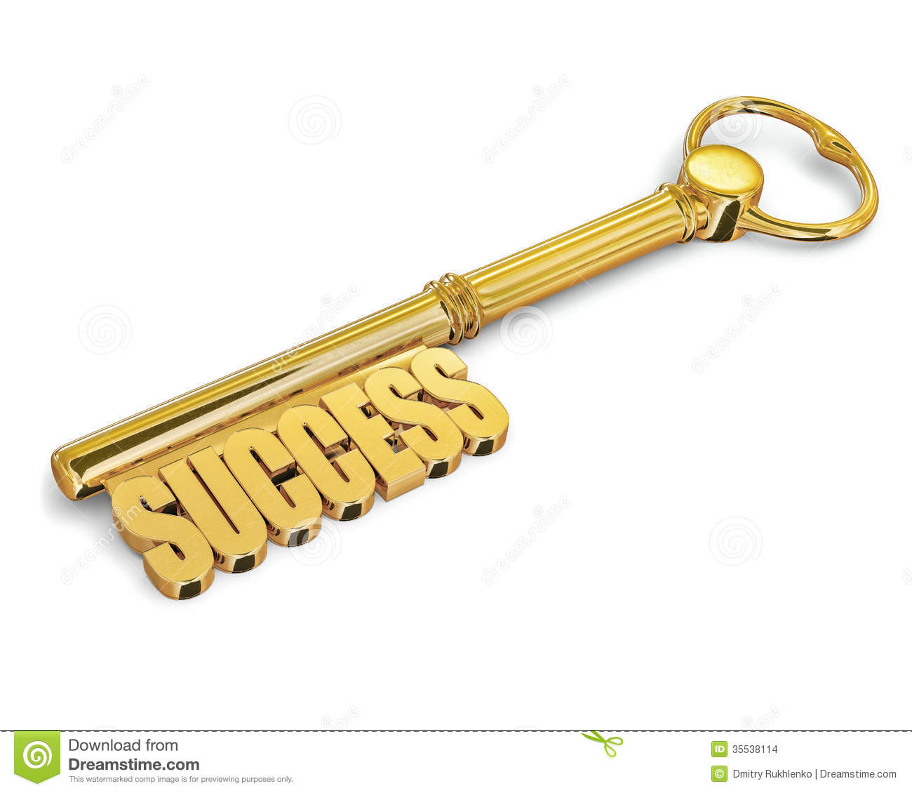 With golden key 3d rendering plan concept with golden key 3d rendering - Key To Success Made Of Gold Isolated Stock Images