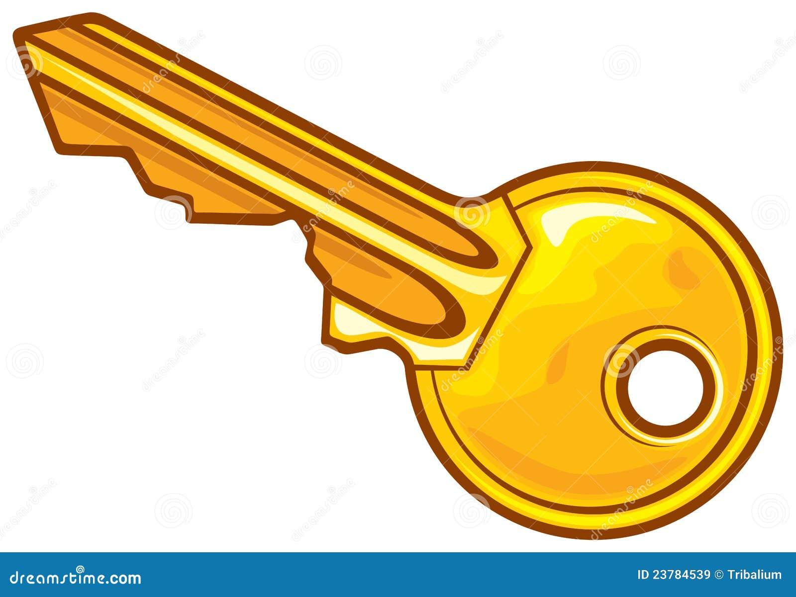 Vector Key Illustration: Vector Illustration Royalty Free Stock Images