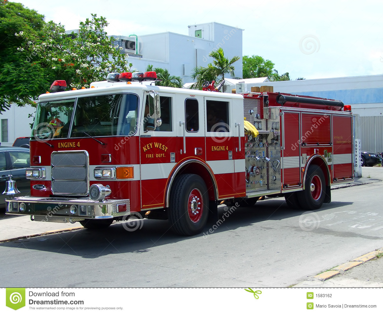 Key West Fire Brigade Truck Stock Photography - Image: 1583162