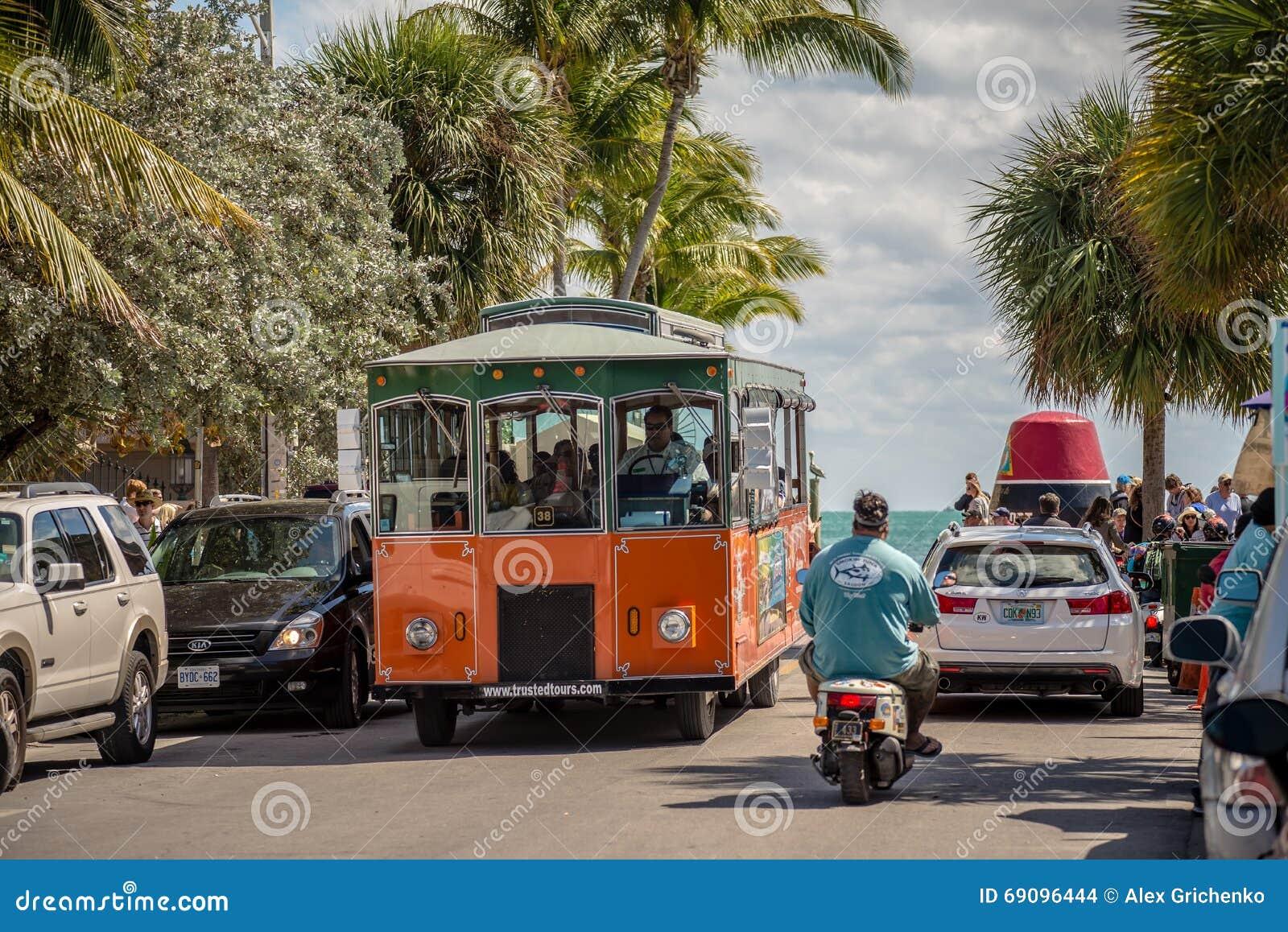 KEY WEST, FL - CIRCA 2016: straten en levensstijl in Key West cir