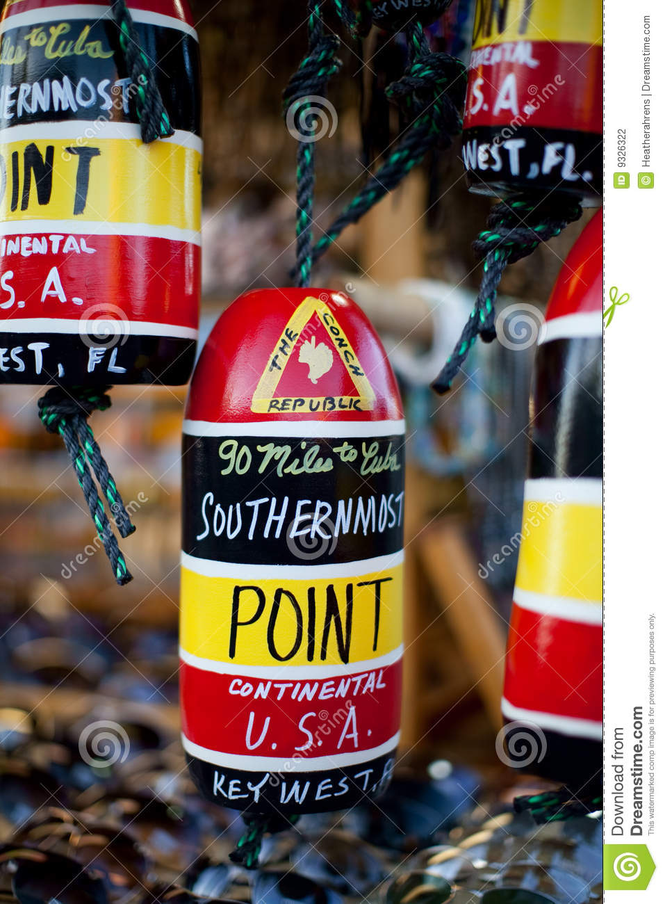 Key West Southernmost Point Souvenir Stock Photo Image