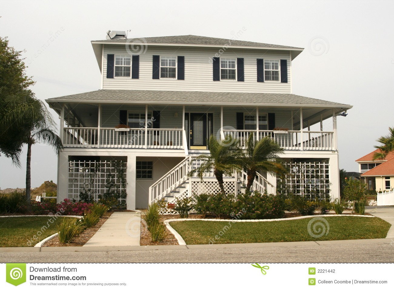 Key West Style Home Stock Photography Image 2221442