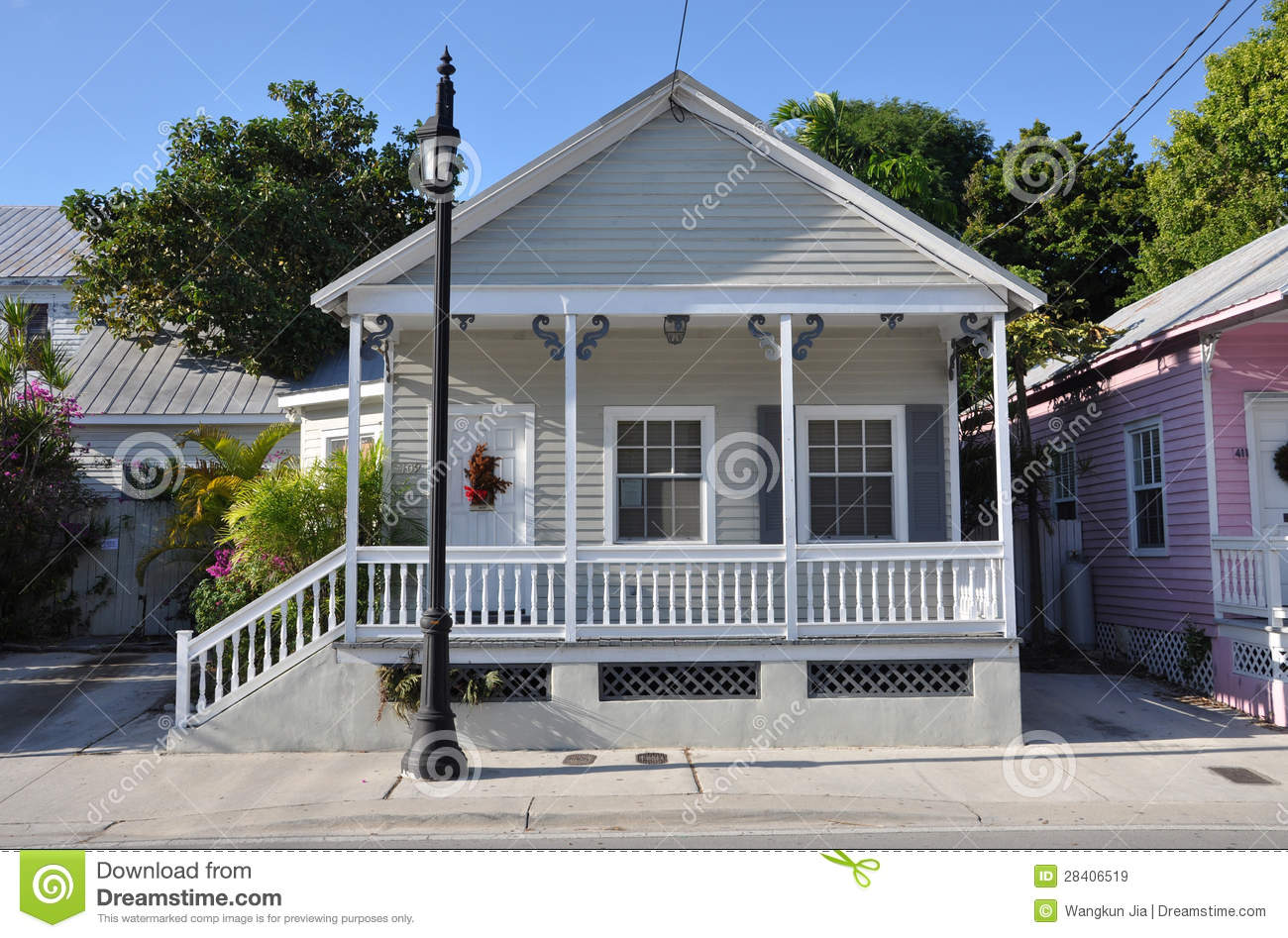 Key West Style House Royalty Free Stock Images Image