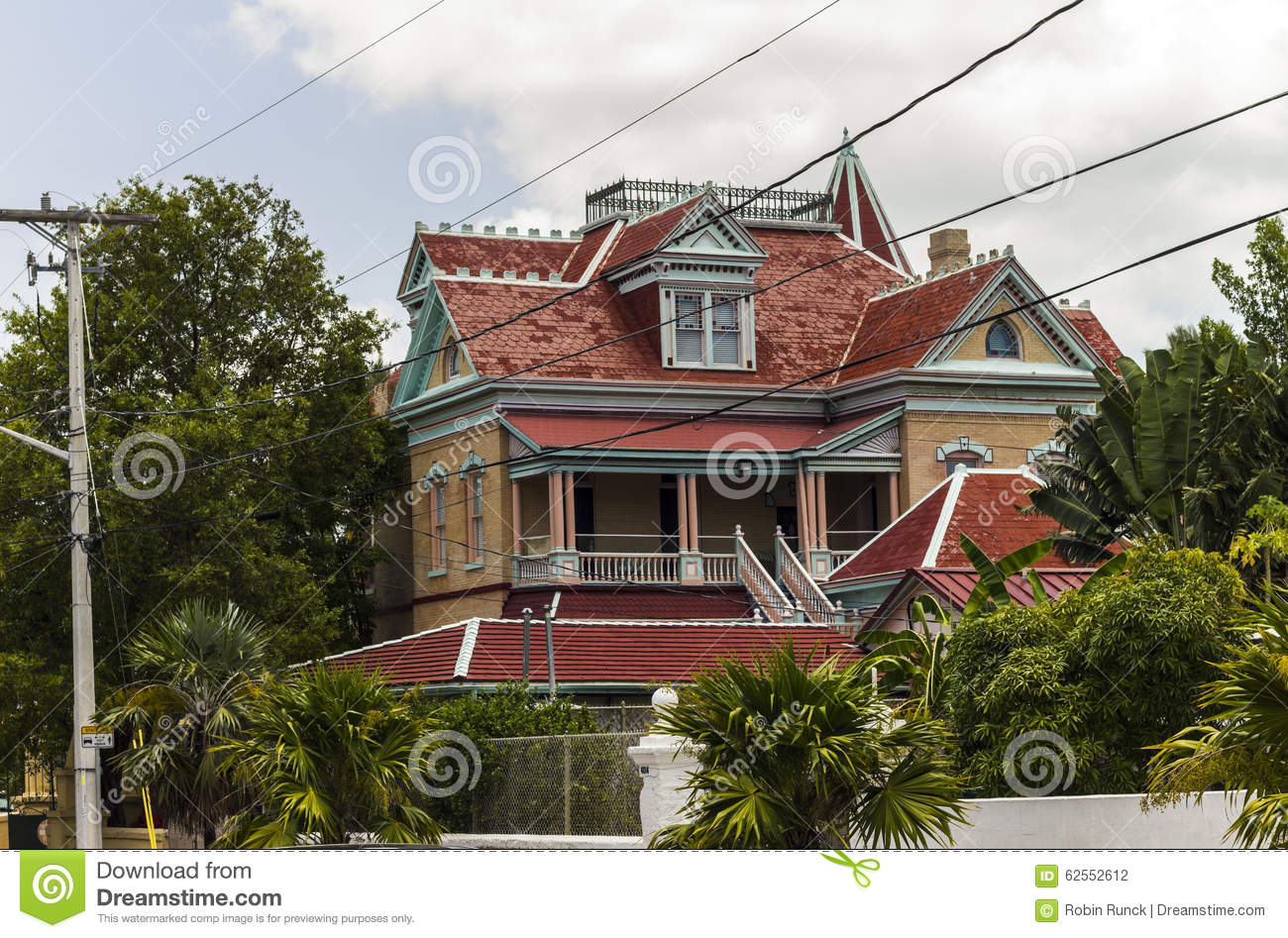 Key West Victorian Style House Stock Photo - Image of american ... Key West Historic Victorian House Plan on michigan victorian house plans, key west patio home plans, key west florida home plans, san francisco victorian house plans, key west bungalow plans,