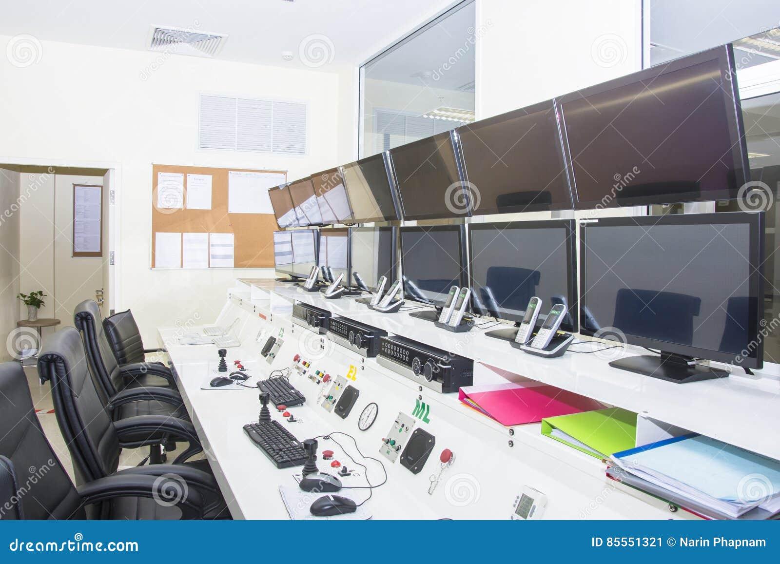 Keyboad und Maus auf KontrollpultComputerraum
