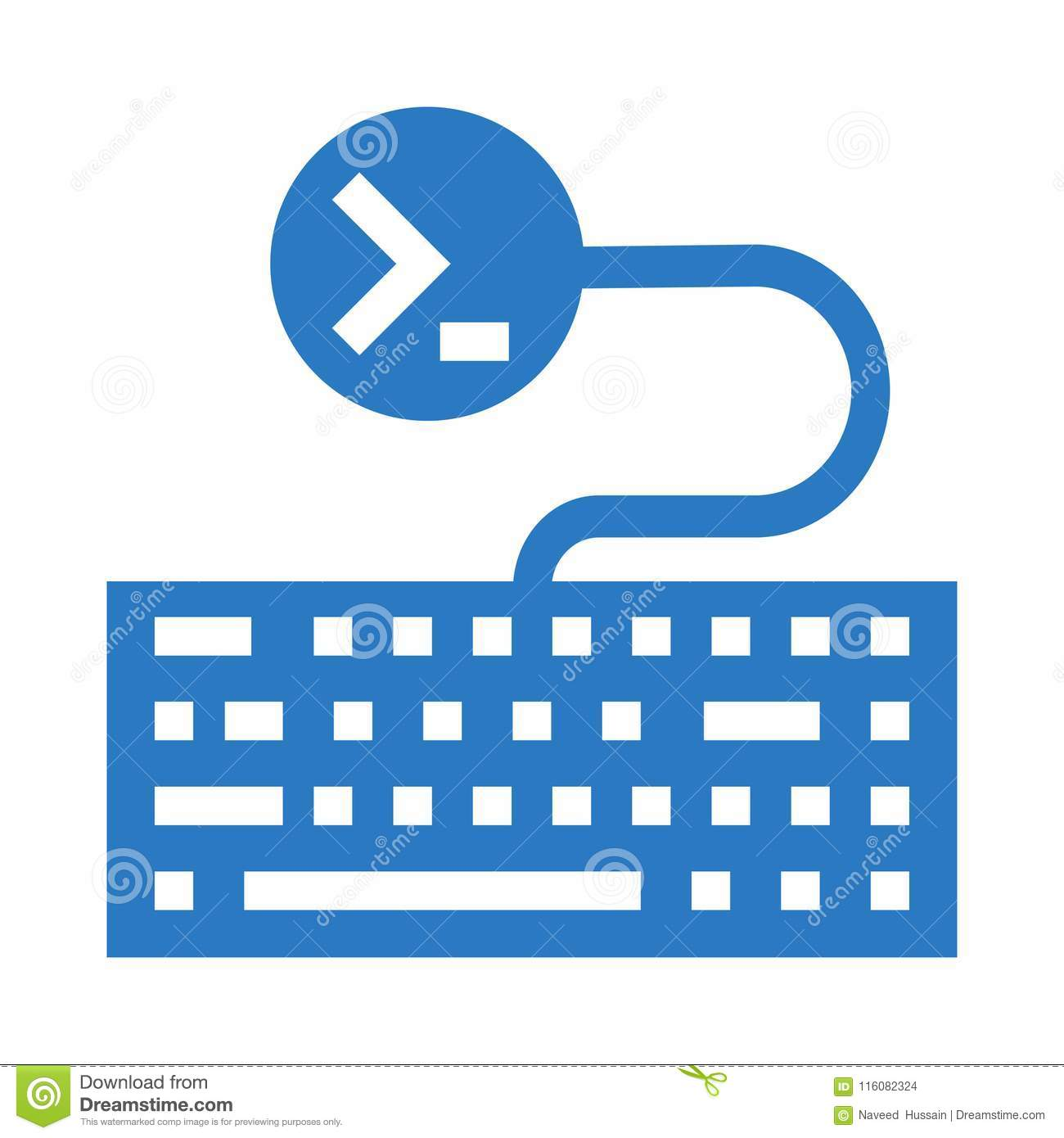 Keyboard Coding Glyphs Double Color Icon Stock Illustration
