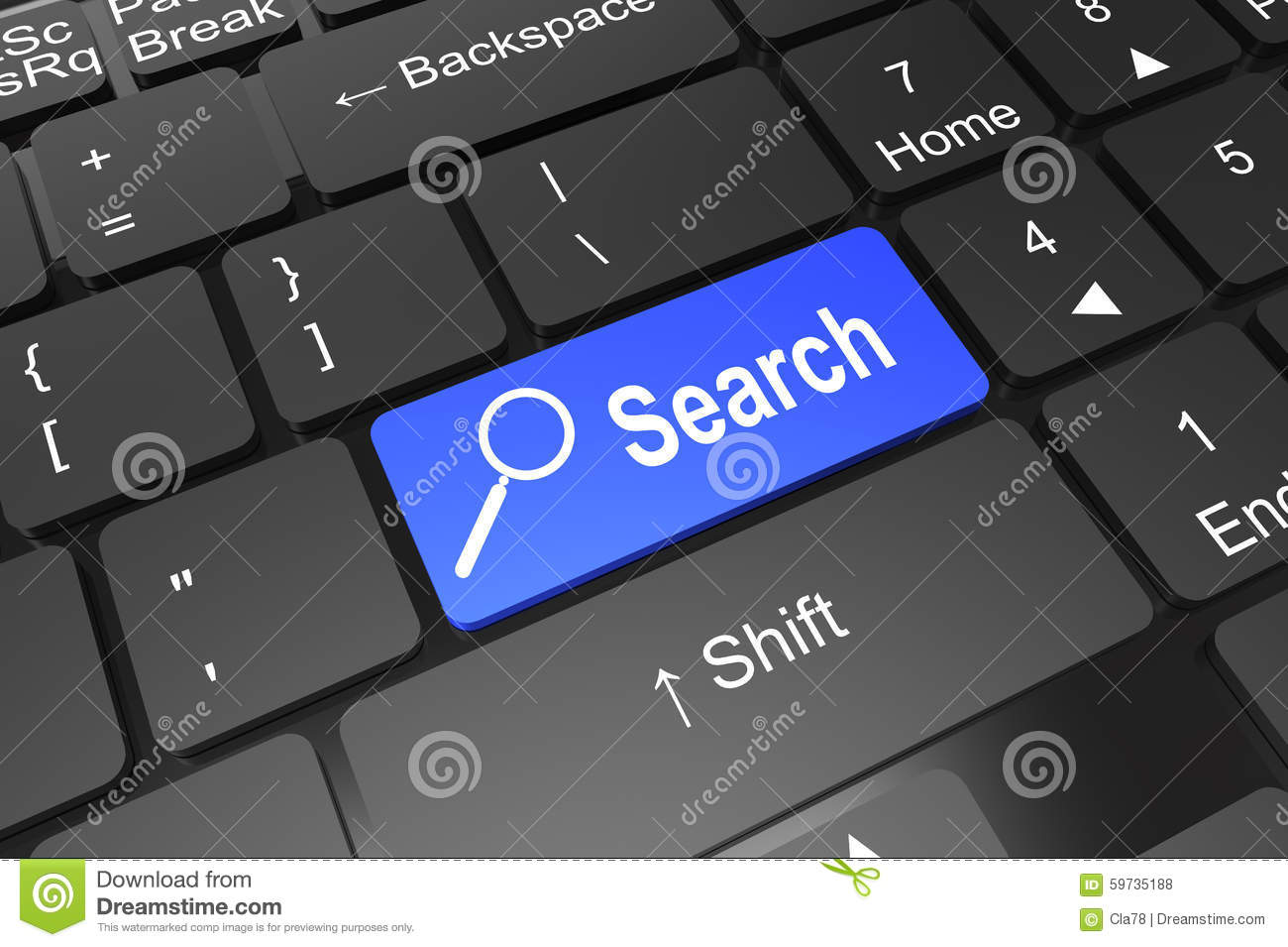 Keyboard Enter Button With Search Stock Illustration