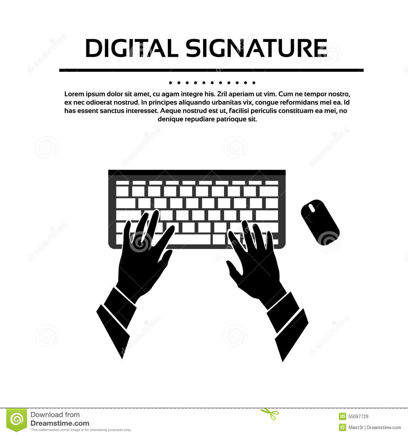 Vector Silhouette Hand With Key Vector Illustration ...
