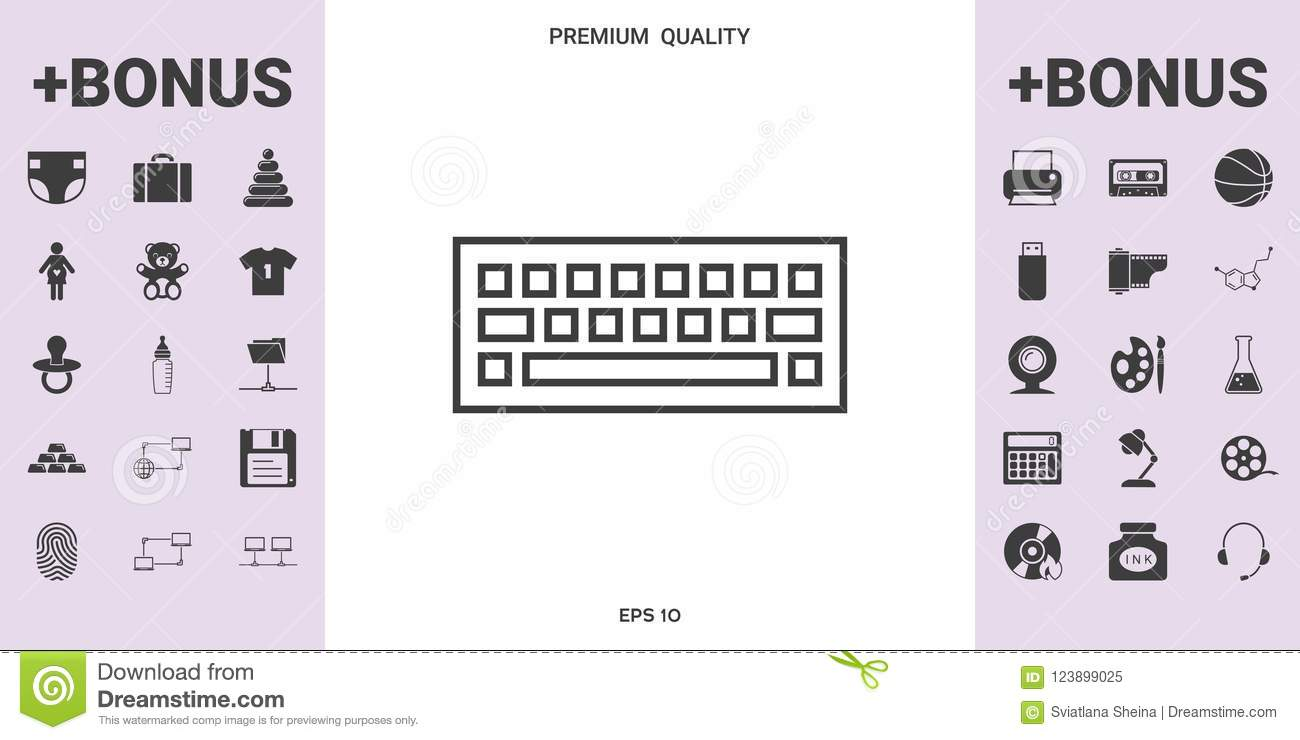 Keyboard Icon Symbol - Graphic Elements For Your Design Stock Vector