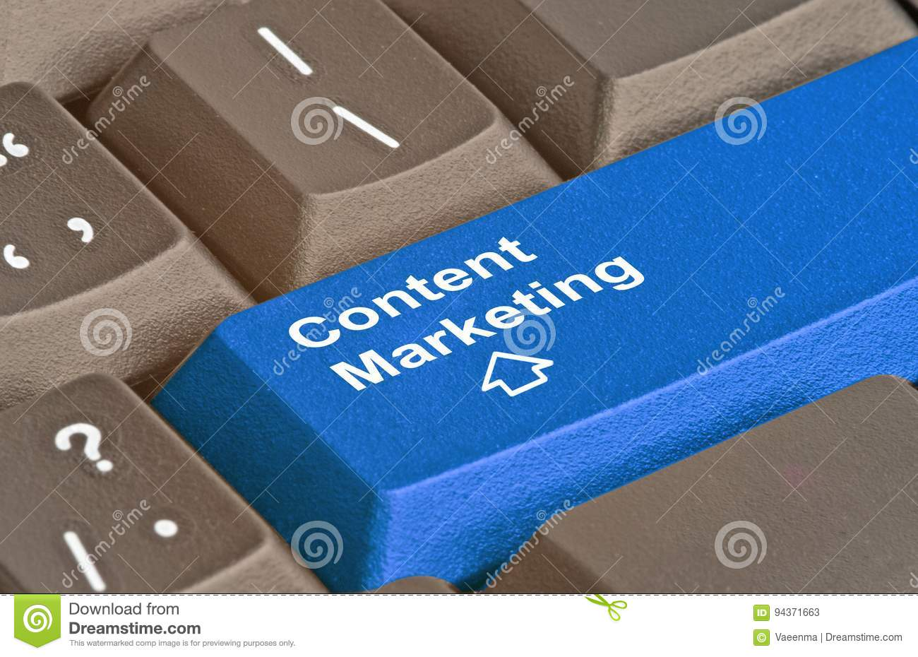 Key for content marketing