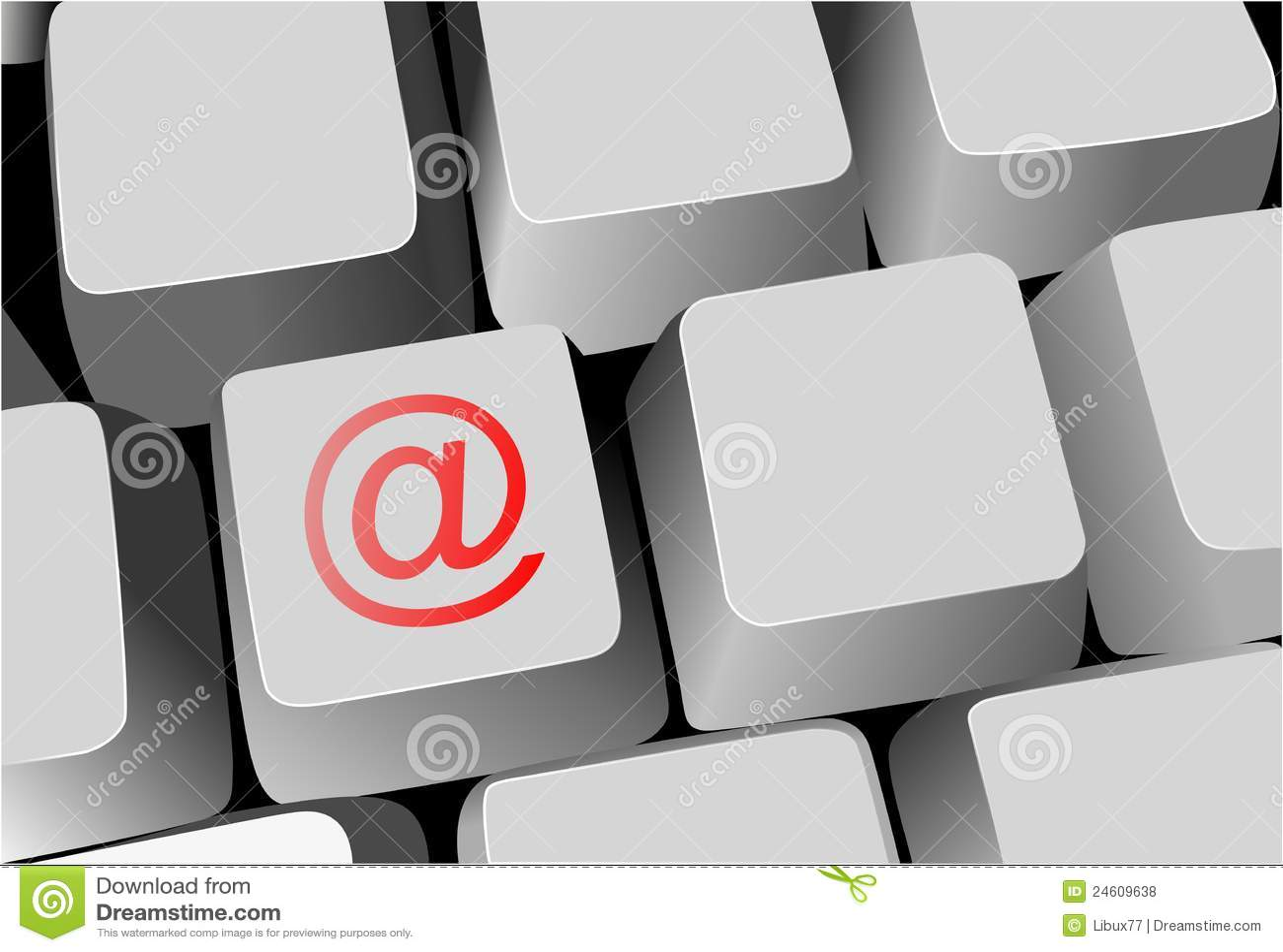 Keyboard key with email sign stock illustration illustration of royalty free stock photo buycottarizona Image collections