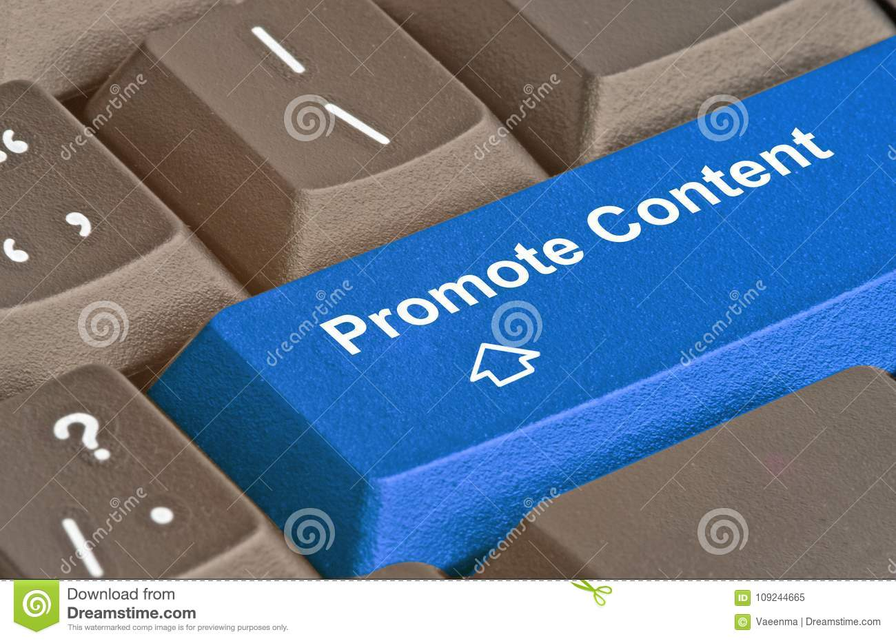 Key to promote content