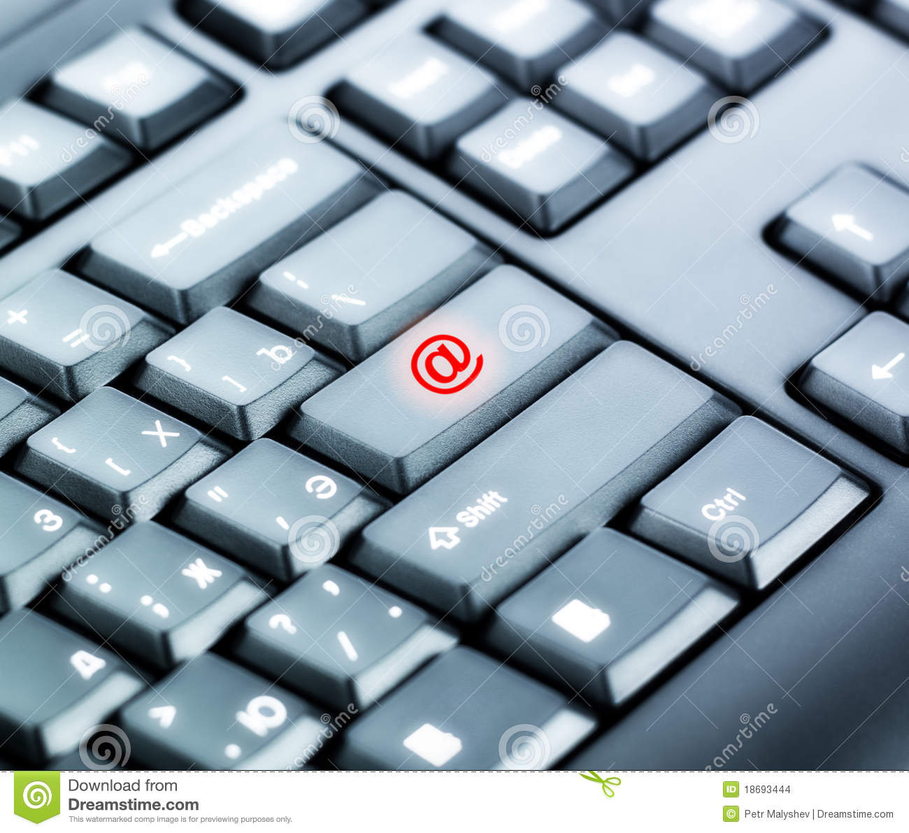 Keyboard with Mail Sign