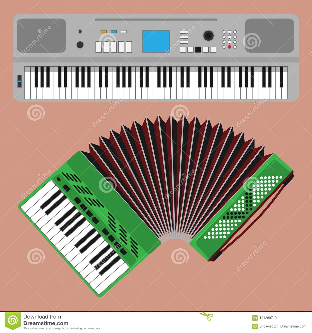 Keyboard Musical Instruments Vector Classical Piano Melody