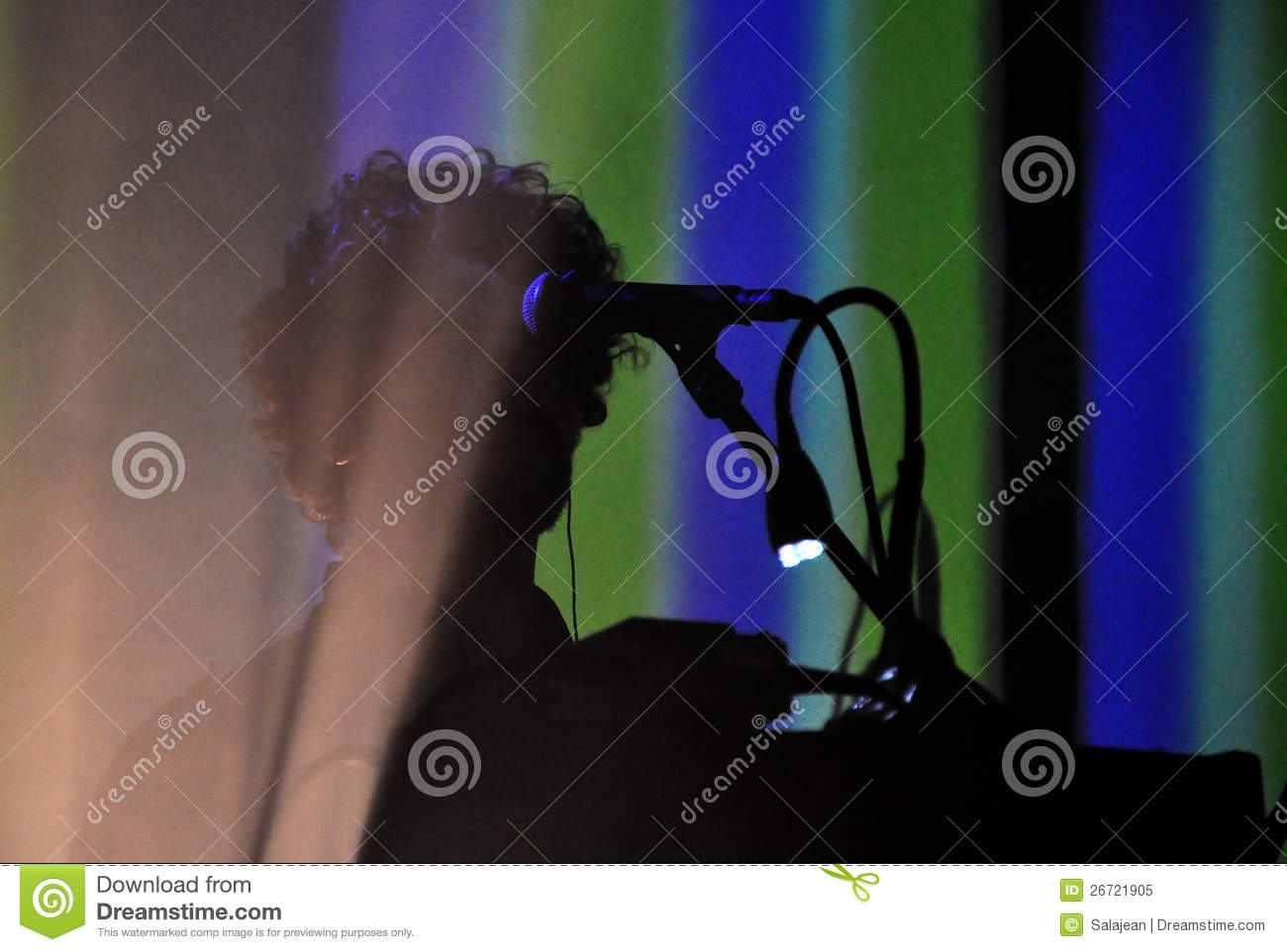 keyboardist on the stage editorial image image 26721905