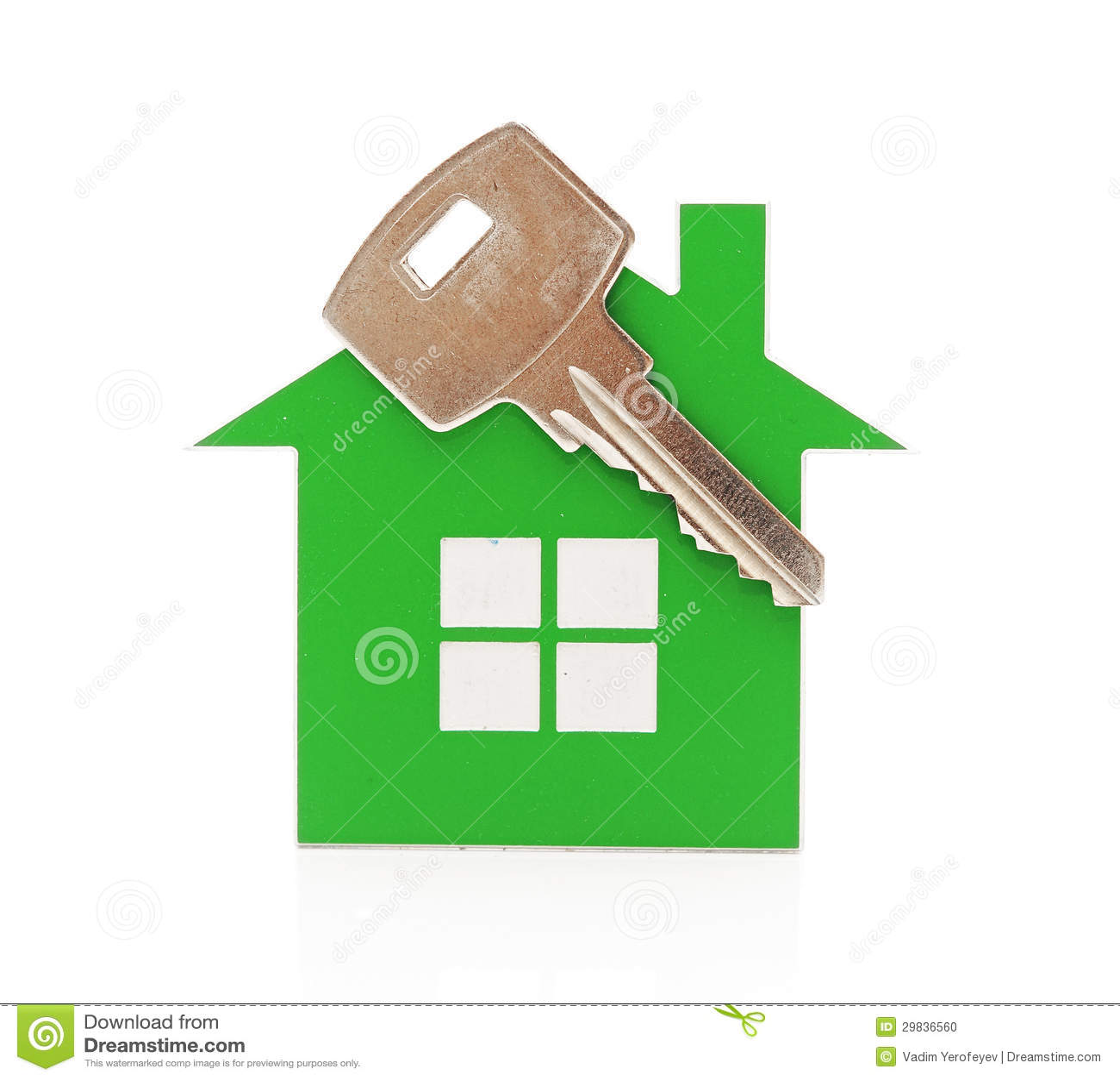 Corrente chave dada forma como uma casa
