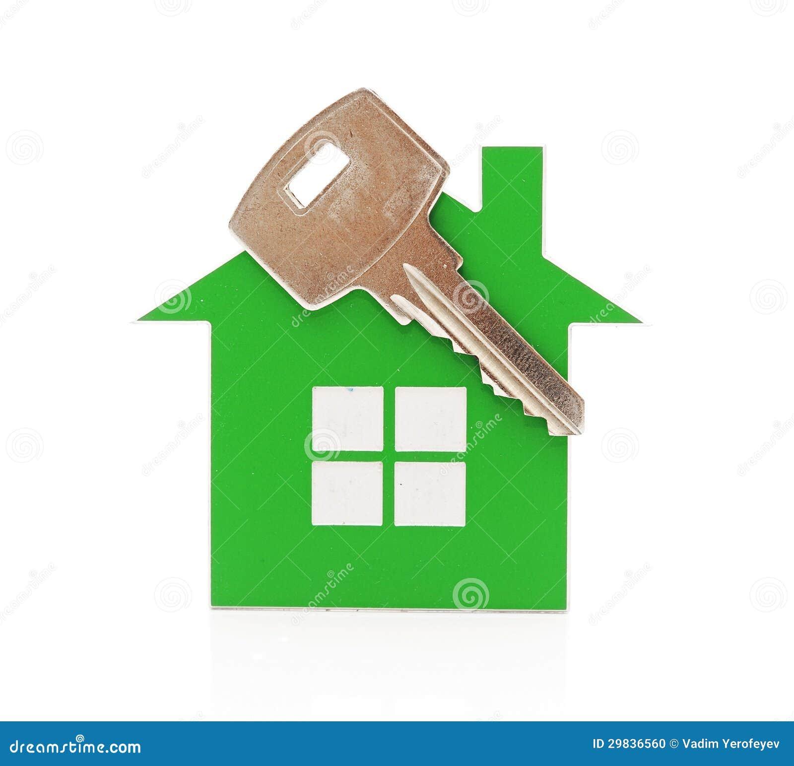 Key chain shaped like a house stock photo image 29836560 for Business cards shaped like a house
