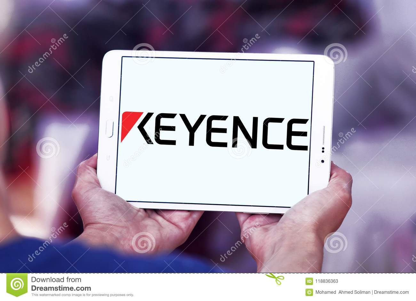 Keyence Corporation logo editorial stock photo  Image of