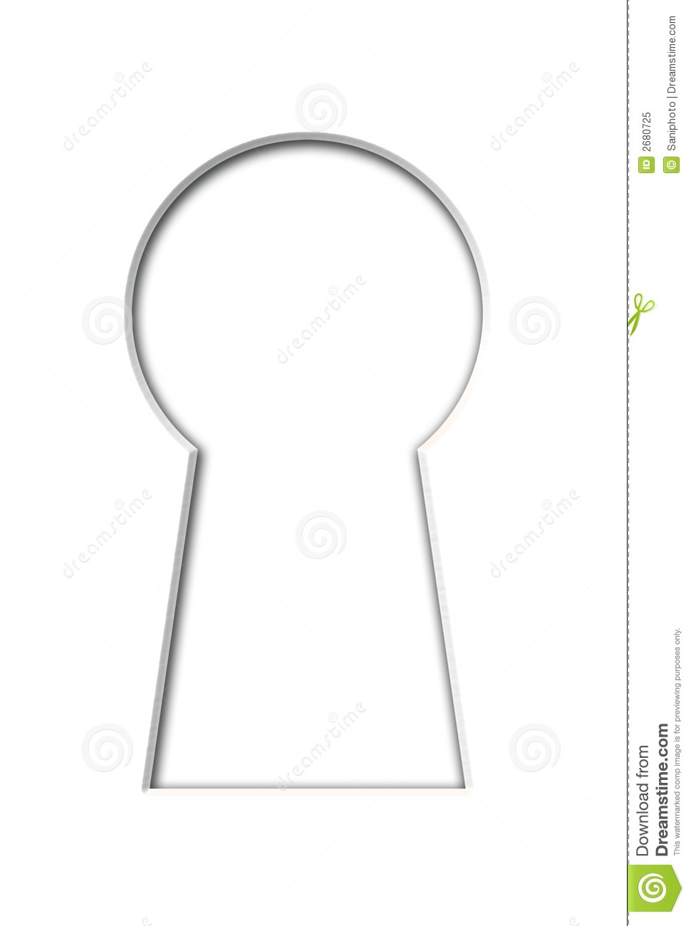Keyhole stock illustration. Image of keyhole, conceptual ...
