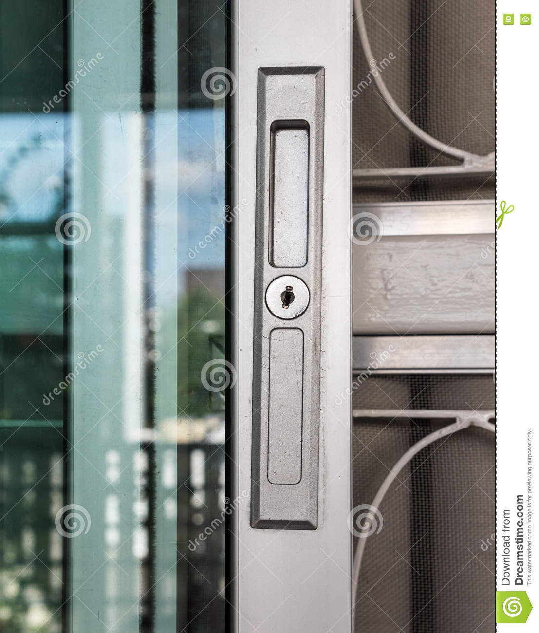 Keyhole On The Metal Frame Stock Image Image Of Front Lock 78116797