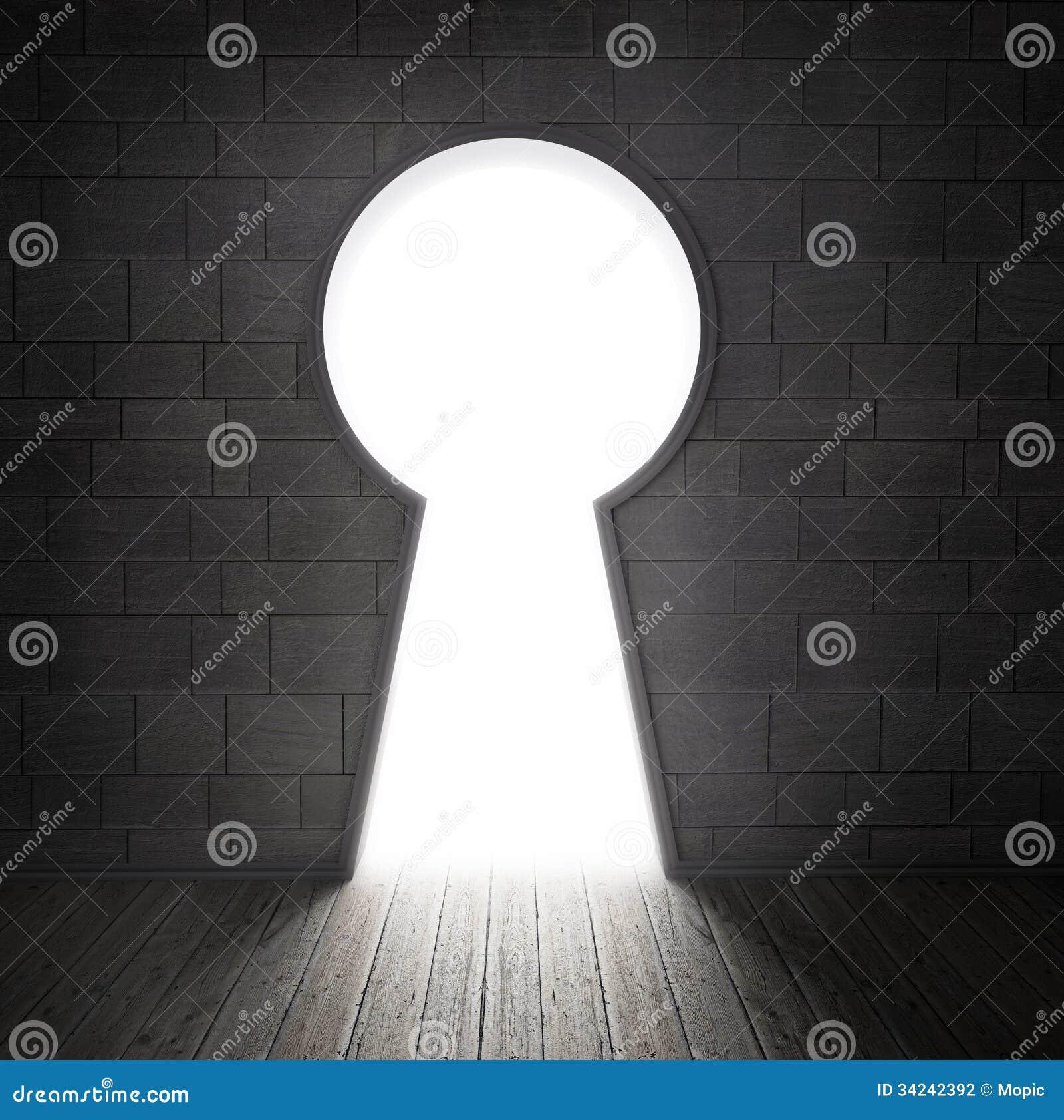 Keyhole w ścianie