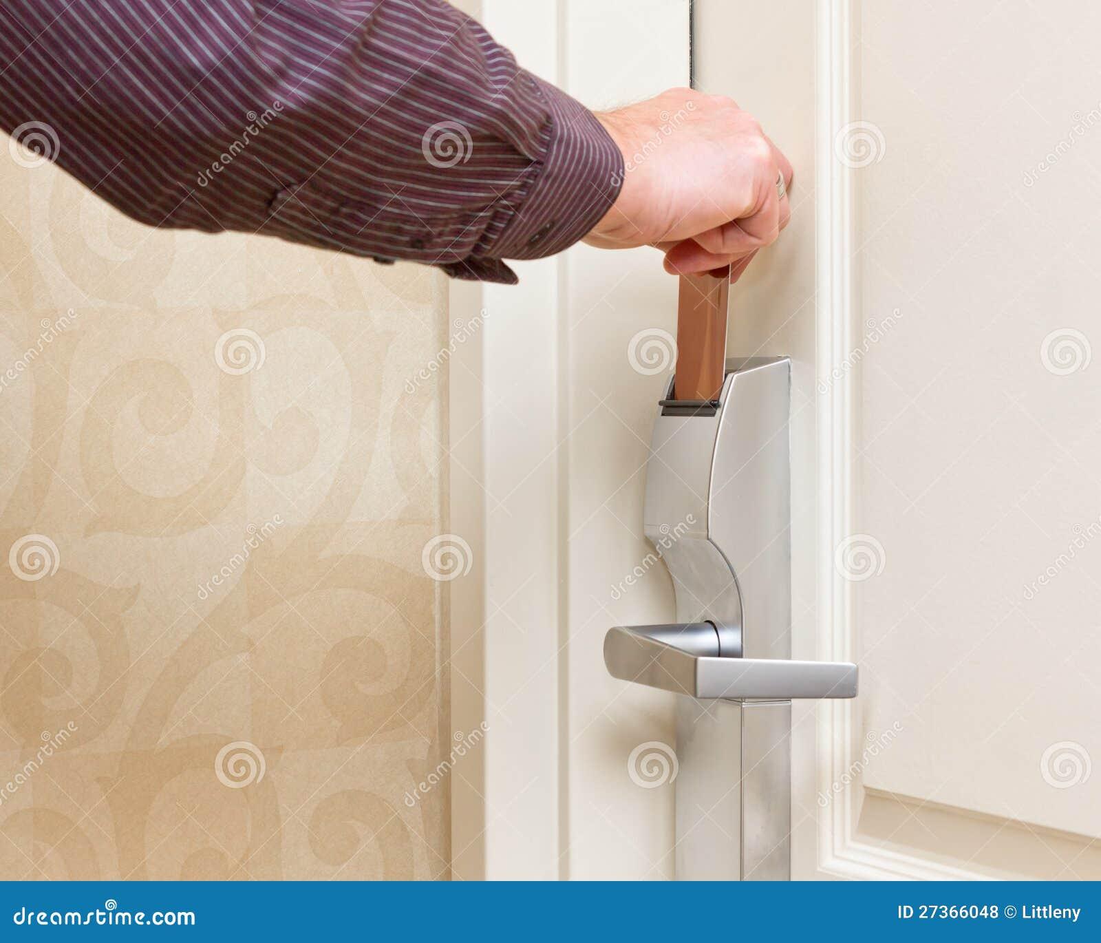 Keyless Door Entry Stock Photo Image Of Business Inserting 27366048