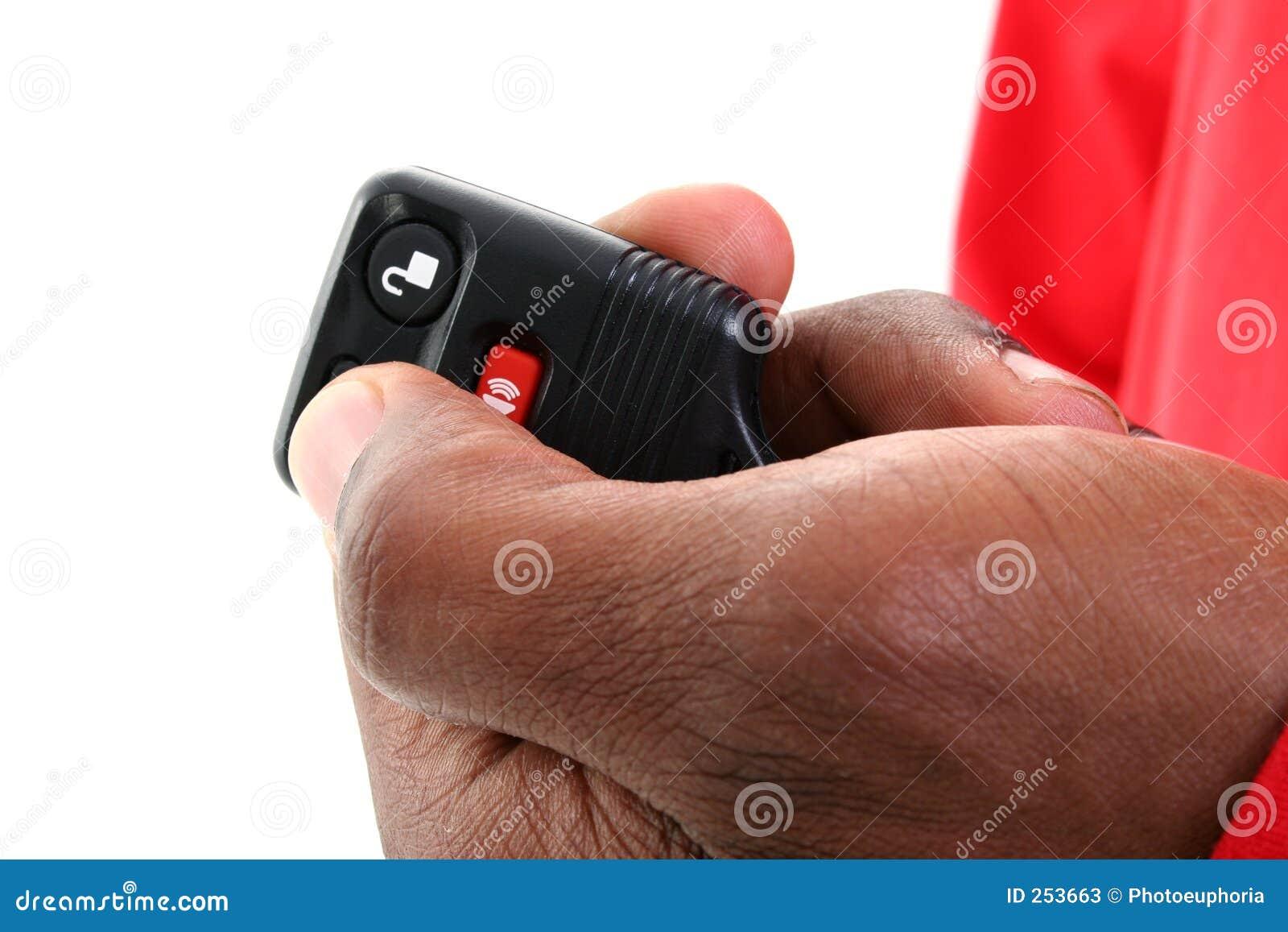 Keyless remote för alarmbiltillträde