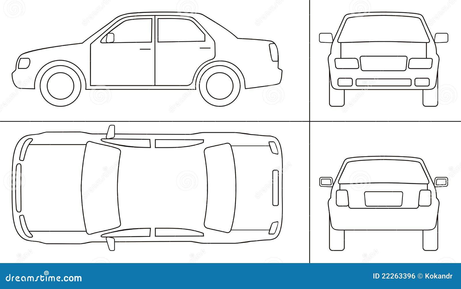 Keyline de voiture de tourisme illustration de vecteur - Voiture autocad ...