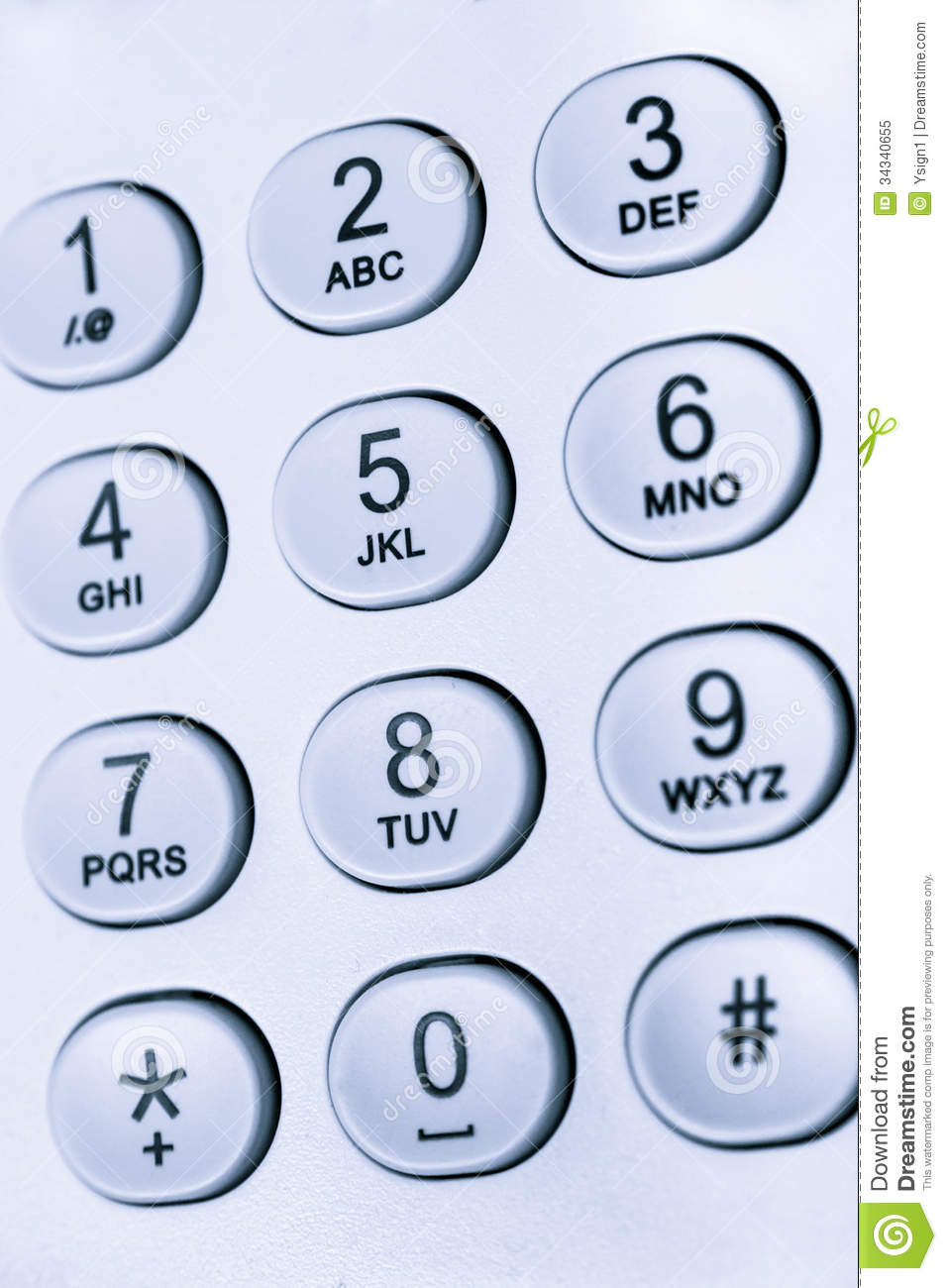 Keypad With Numbers And Letters Royalty Free Stock Photo - Image ...