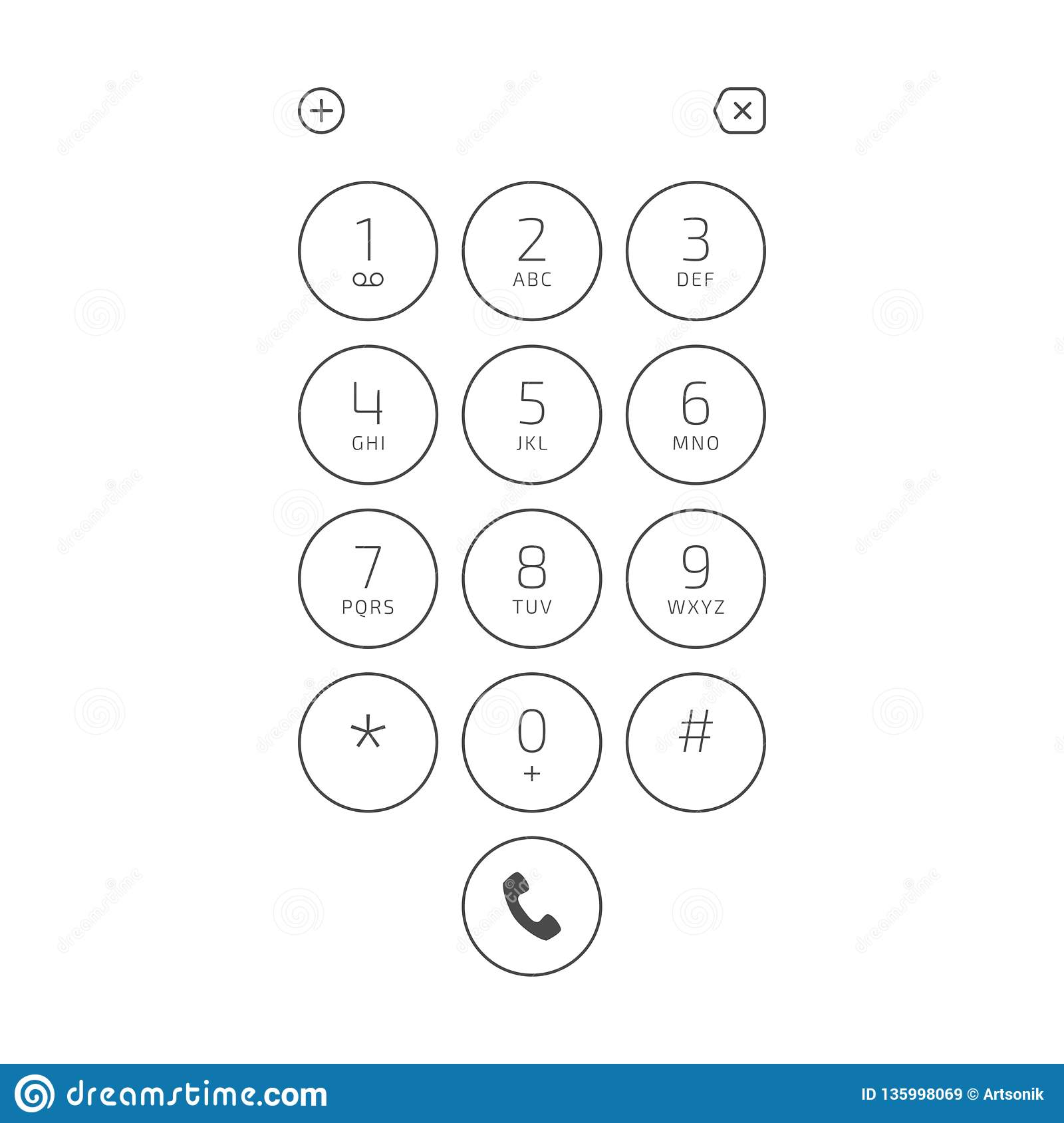 Keypad for phone  stock vector  Illustration of equipment