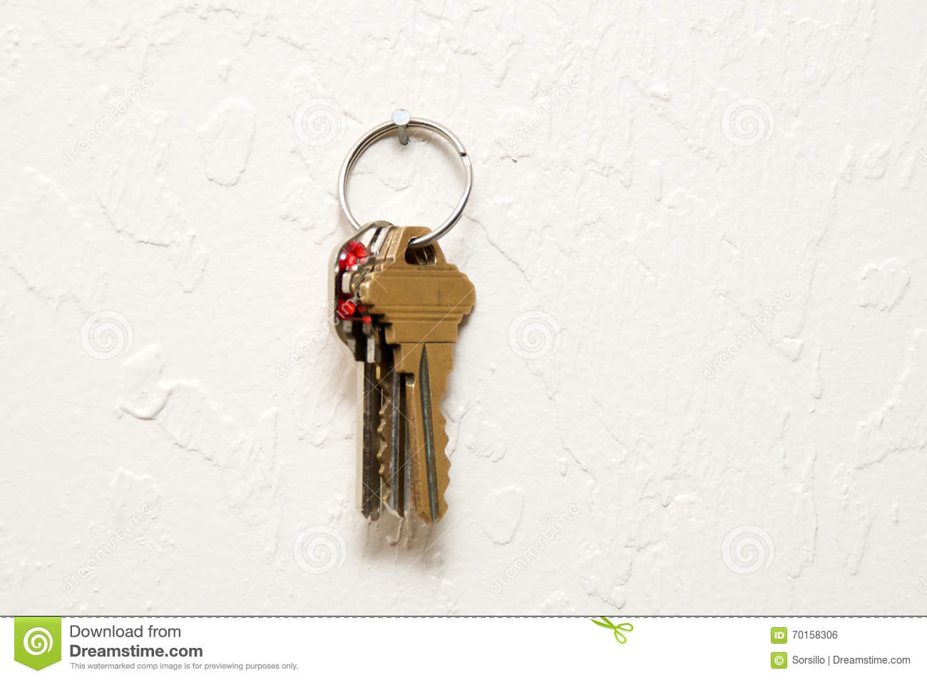 Keyring hanging on wall with keys stock photo image for What to hang on walls