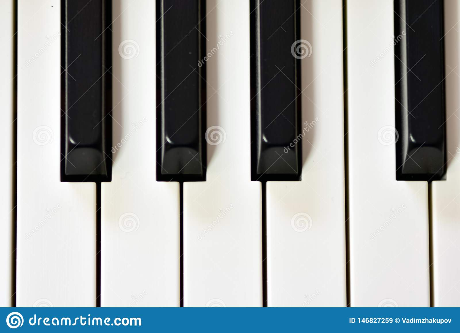 Keys Of A Digital Piano, Soft Focusing, Creative Mood Of A
