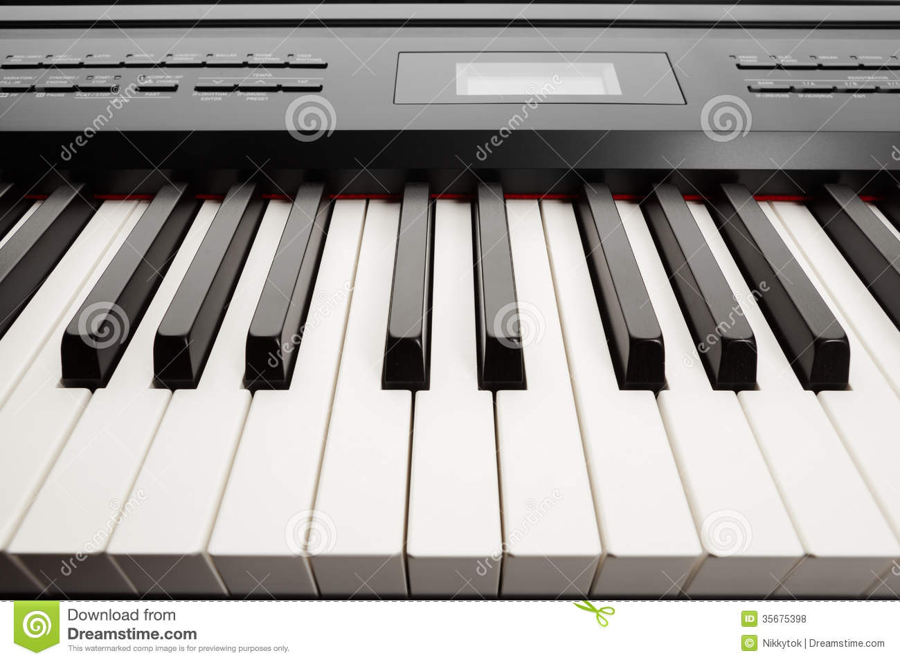 keys of digital piano synthesizer royalty free stock photos image 35675398. Black Bedroom Furniture Sets. Home Design Ideas