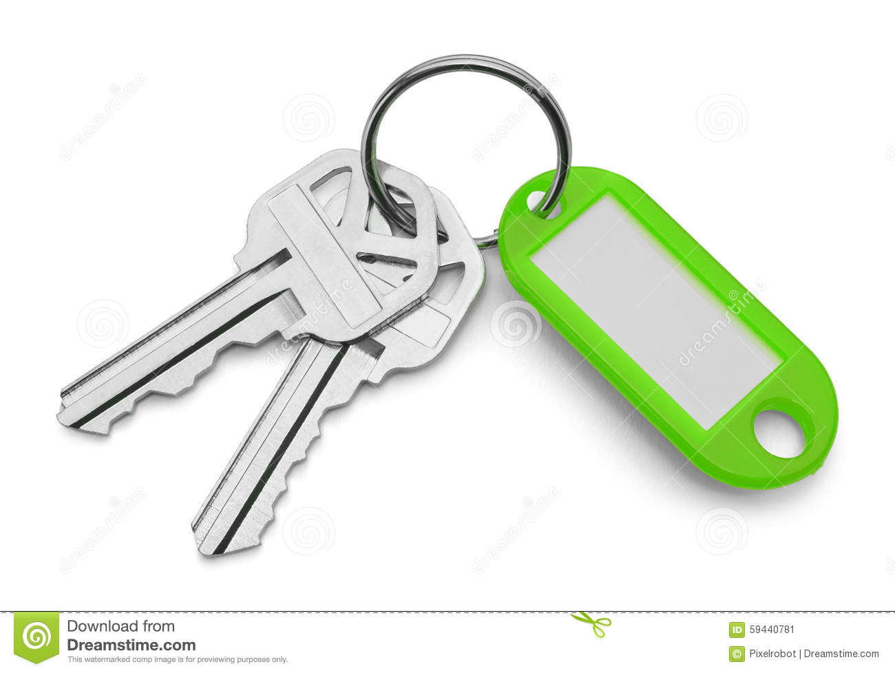 Keys and Green Key Chain Keys