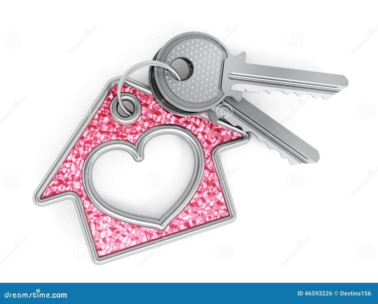 Keys and house pendant
