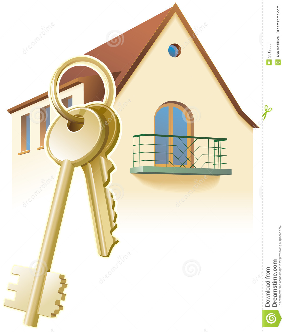 Keys new home realty vector royalty free stock image for New home images