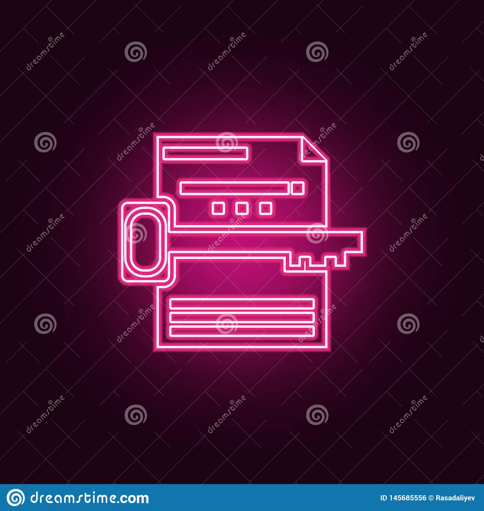 keyword search icon. Elements of Web Development in neon style icons. Simple icon for websites, web design, mobile app, info