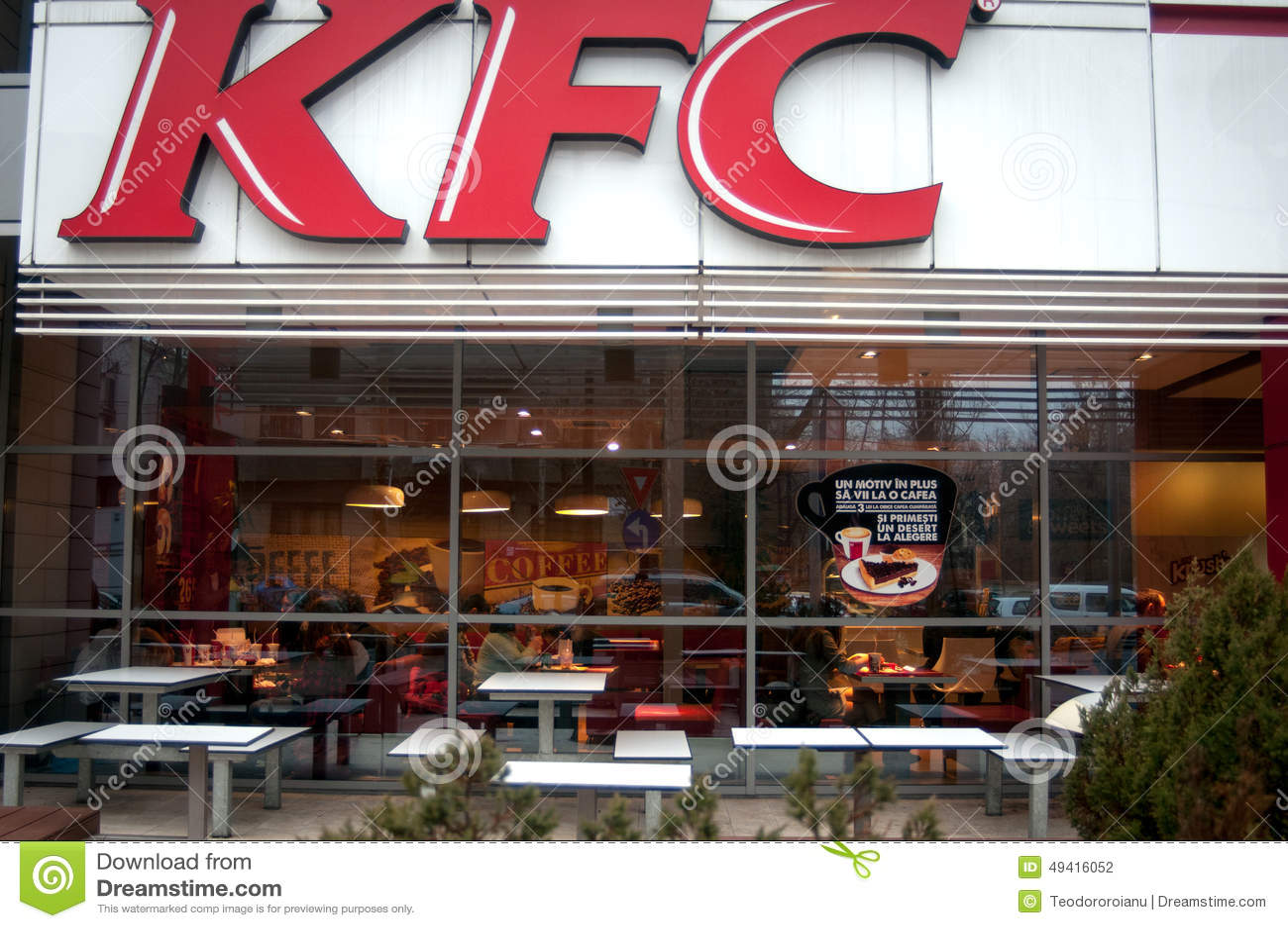 Download Kfc Restaurant redaktionelles stockfotografie. Bild von restaurant - 49416052