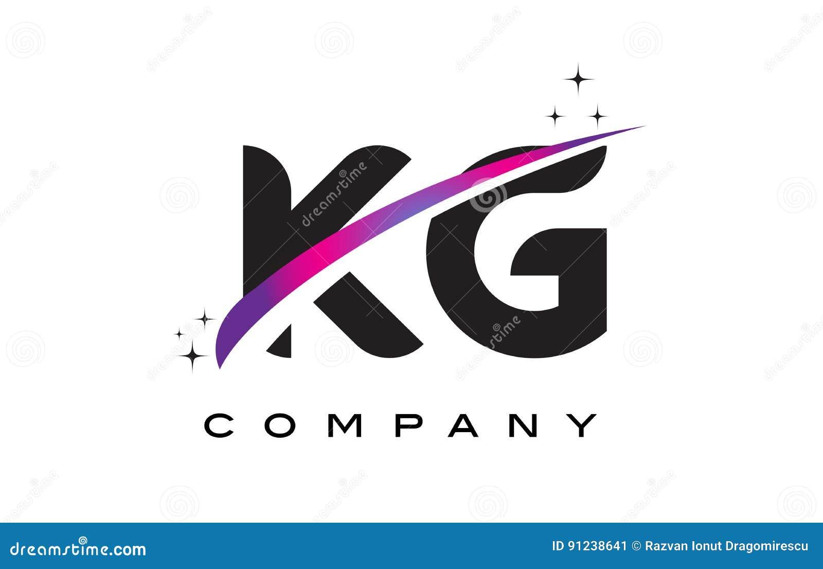 KG K G Black Letter Lo...G Design Letter