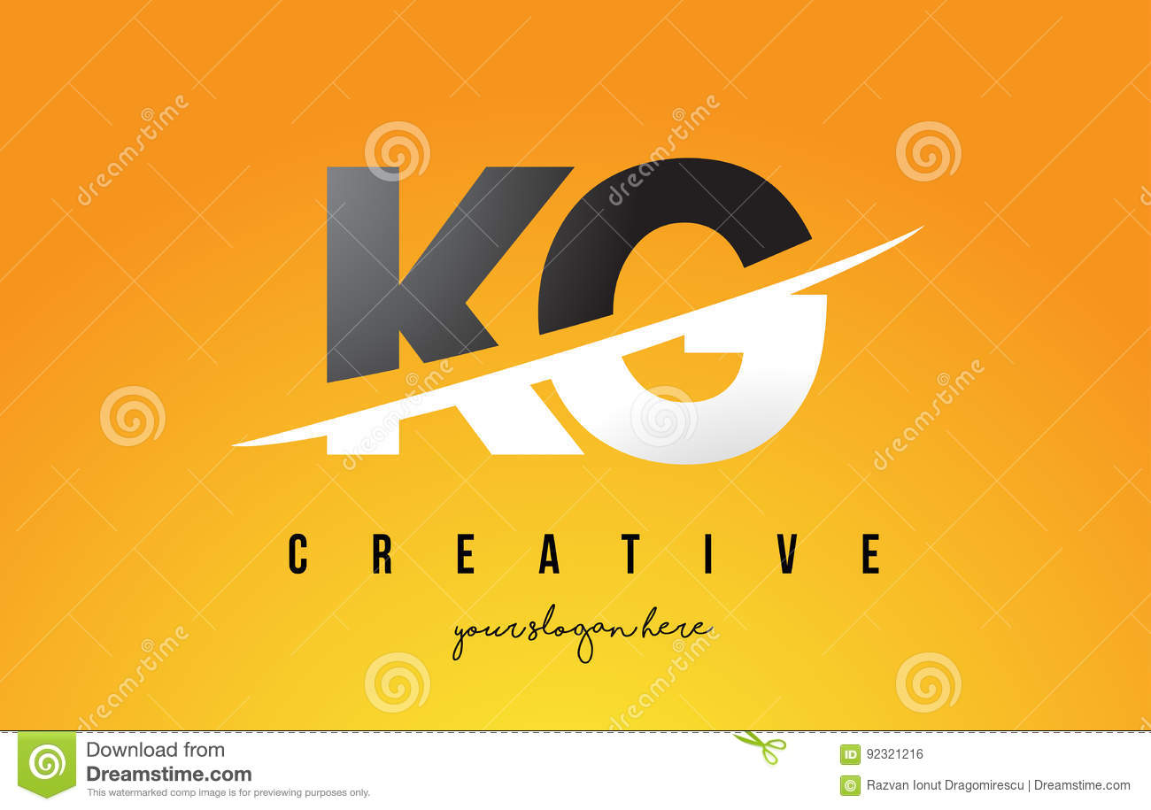 K to 12 background images - Kg K G Letter Modern Logo Design With Yellow Background And Swoo Stock Vector