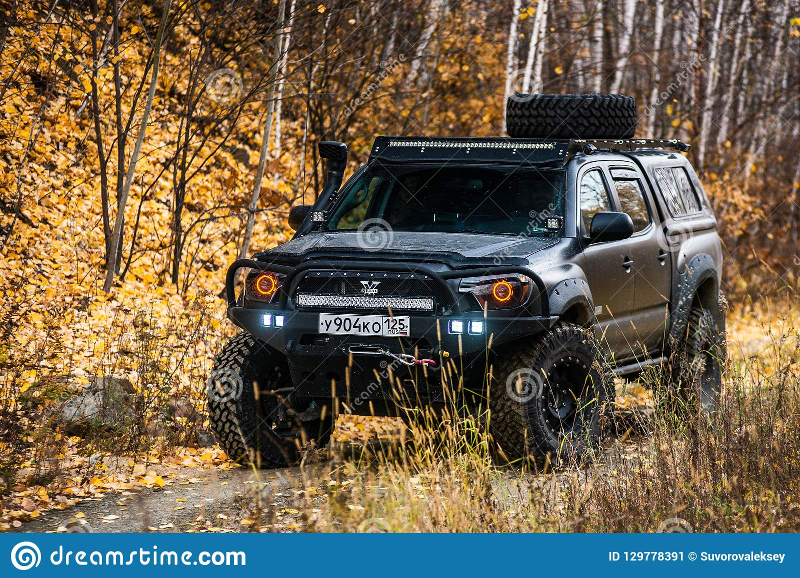 Khabarovsk Russia October 7 2018 Toyota Tacoma Quick Ride On A Offroad Editorial Photo Image Of Industry North 129778391