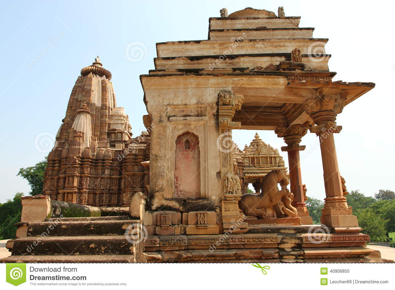 Khajuraho temples and their erotic sculptures, India